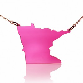 Acrylic Minnesota State Necklace America Map Necklace