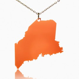 Acrylic Maine State Necklace America Map Necklace