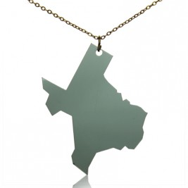 Acrylic Texas State Necklace America Map Necklace