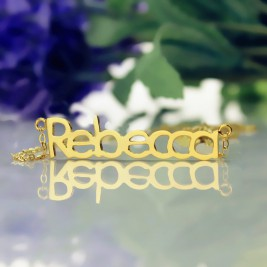 Solid Gold Rebecca Style Name Necklace-18ct