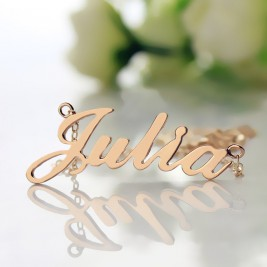 Solid Rose Gold Plated Julia Style Name Necklace