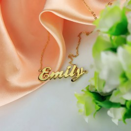 Cursive Script Name Necklace 18ct Solid Gold