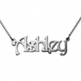 Harrington Style Sterling Silver Name Necklace