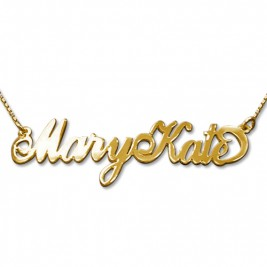 2 Capital Letters 18ct Gold Name Necklace