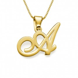 18ct Gold Initials Pendant with Any Letter