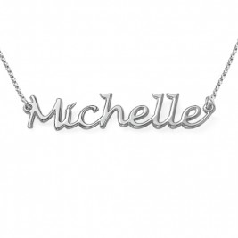 Silver Handwritten Name Necklace