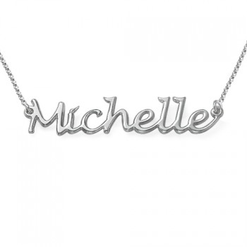 Silver Handwritten Name Necklace