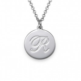 Sterling Silver Initial Script Pendant