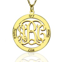 Family Monogram Name Necklace In 18ct Gold Plated