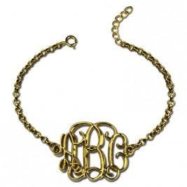 18ct Gold Plated Celebrity Monogram Bracelet