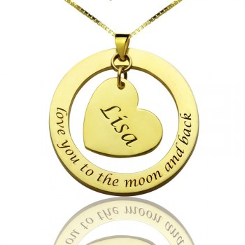 Personalised Promise Necklace with Name  Phrase 18ct Gold Plated