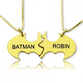 Personalised Puzzle Friend Name Necklace 18ct Gold Plated