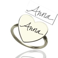 Personalised Signature Ring Handwriting Sterling Silver