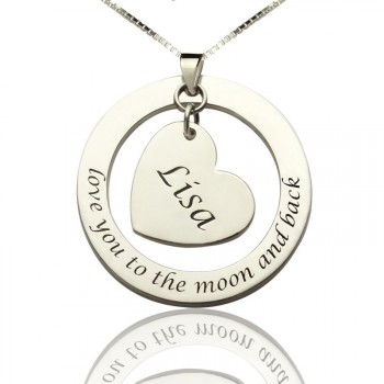Love You Heart Necklace For Women