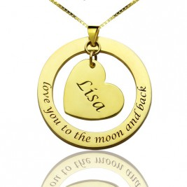 Custom Mom I Love You to the Moon and Back Necklace