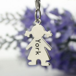 Personalised Baby Girl Pendant Necklace With Name Silver