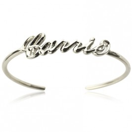 Personalised Sterling Silver Name Bangle Bracelet