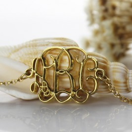 18ct Gold Plated Celebrity Monogram Bracelet