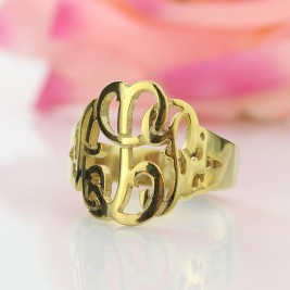 Personalised Hand Drawing Monogrammed Ring Gifts