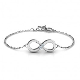 Personalised Twosome  Infinity Bracelet