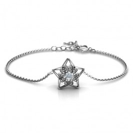 Personalised 3D Star Bracelet with Filigree Detailing