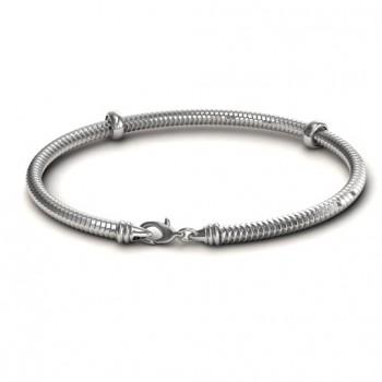 Personalised Silver Snake Bracelet