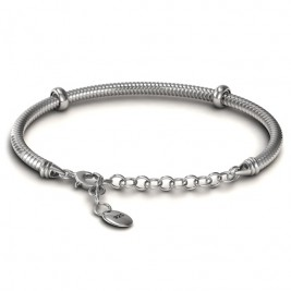 Personalised Silver Snake Bracelet with 1.5  Extender