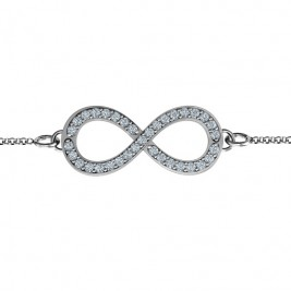 Personalised Accented Infinity Bracelet