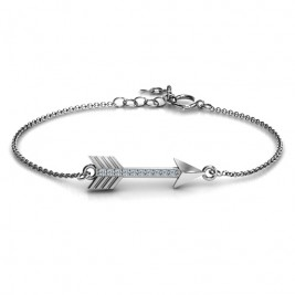 Personalised Arrow Bracelet with Accent Stones