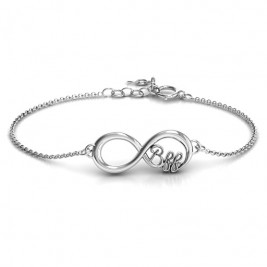 Personalised BFF Friendship Infinity Bracelet