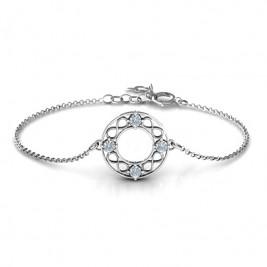 Personalised Circular Infinity Bracelet