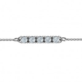 Personalised Classic 5 Birthstone Bracelet