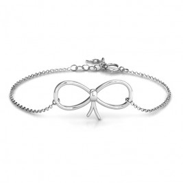 Personalised Classic Bow Bracelet