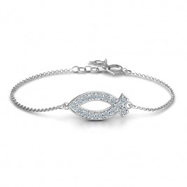 Personalised Classic Fish Bracelet