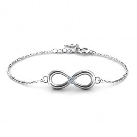 Personalised Classic Infinity With Centre Accents Bracelet