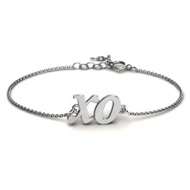 Personalised Classic Kiss and Hug Bracelet
