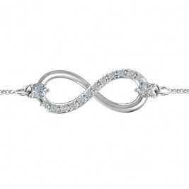 Personalised Double Stone Infinity Accent Bracelet