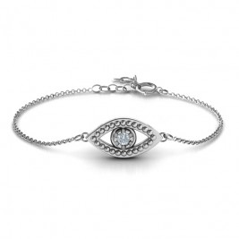 Personalised Evil Eye Bracelet