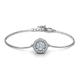 Personalised Halo and Accents Bracelet