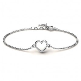 Personalised Heart 'Ahava' Bracelet