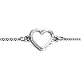 Personalised Heart 'Ahava' Bracelet