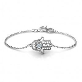 Personalised Horizontal Hamsa Bracelet