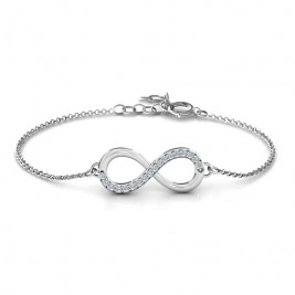 Personalised Infinity Bracelet with Single Accent Row