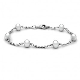 Personalised Linked Freshwater Pearl Bracelet