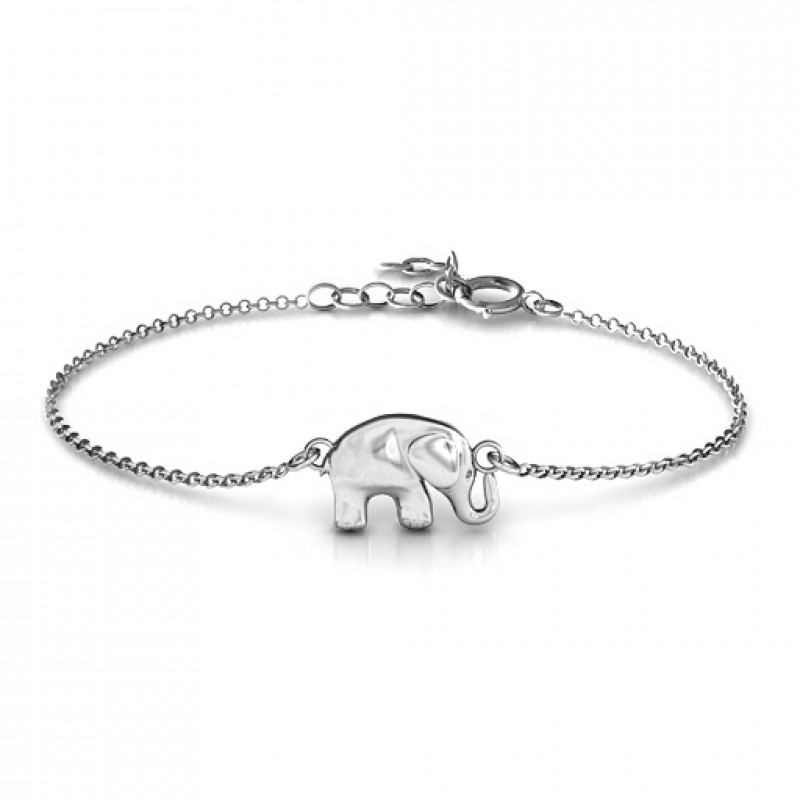 jewelry item elephant silver plated for style thailand flower yellow beautiful women small bracelet bangle