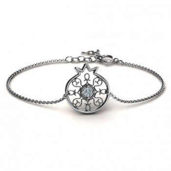 Personalised Pomegranate with Filigree Bracelet