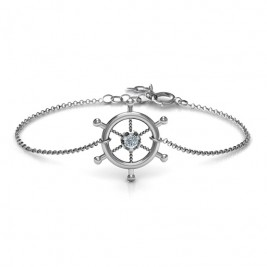 Personalised Ship's Wheel Bracelet