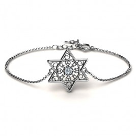 Personalised Star of David with Filigree Bracelet