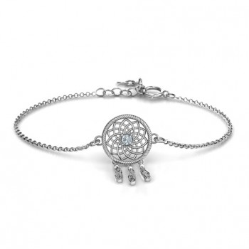 Personalised Sterling Silver Dream Catcher Bracelet