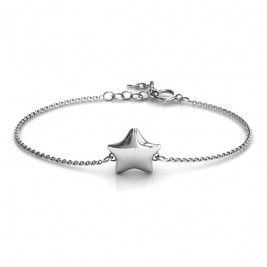 Personalised Sterling Silver Lucky Star Bracelet
